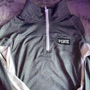 PINK fleece quarter zip jacket